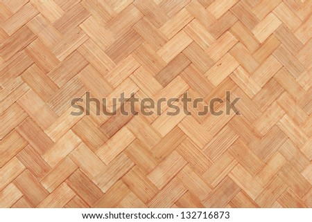 background of rattan in a woven pattern