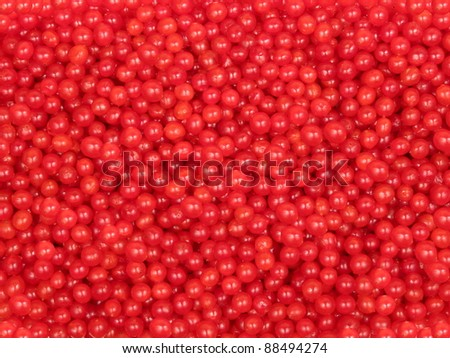 background of red berries - cranberry