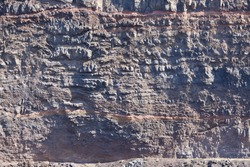 background of red-brown volcanic rock