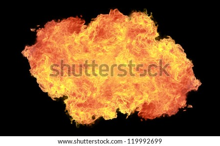 background of red fire explosion