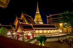 Background of religious tourist attractions in Bangkok(Wat Ratchabophit Sathitmahasimaram Ratchaworawihan)is an ancient temple with a history that tourists all over the world visit for its beauty