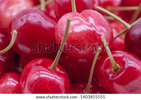 background of ripe cherry ripe juicy summer natural #1403855555