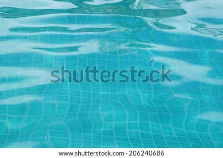 Background of rippled pattern of clean water in swimming pool