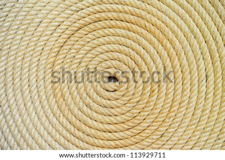 background of rope folded helix