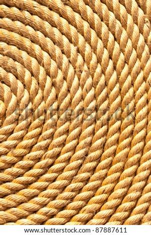 background of rope folded helix