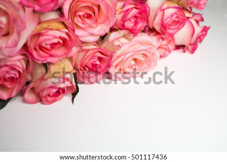 background of roses for greeting