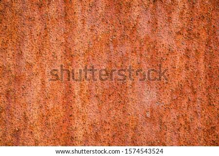 Background of rusty weathering (cor-ten) steel. Steel used in outdoor sculptures, architecture, gardening etc. Foto stock ©