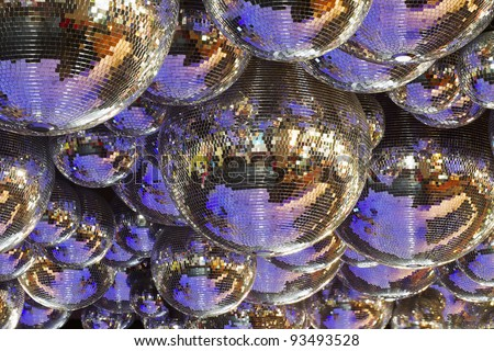 background of several disco balls