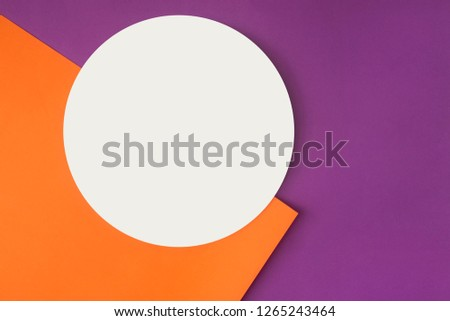 Background of shape and geometry. Colored background decorations with paper. #1265243464