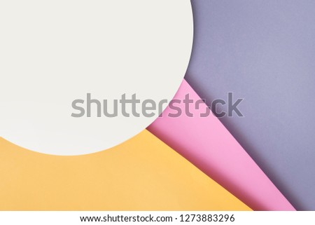 Background of shape and geometry. Colored background decorations with paper. #1273883296