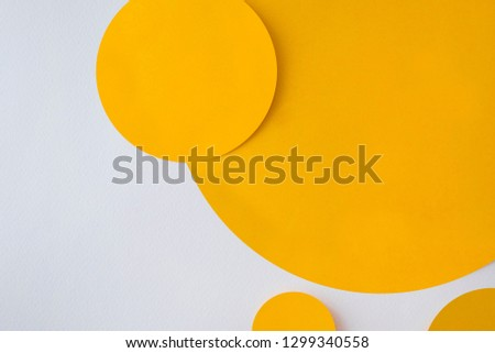 Background of shape and geometry. Colored background decorations with paper. #1299340558