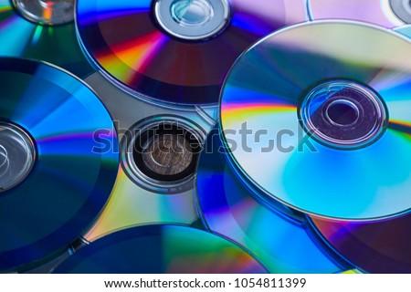 Background of shiny compact discs Сток-фото ©