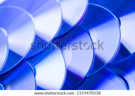 Background of shiny compact discs  #1319470538
