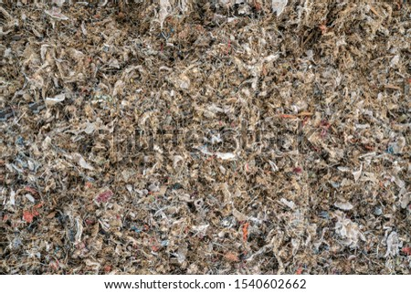 Background of shredded miscellaneous waste. Close up. #1540602662
