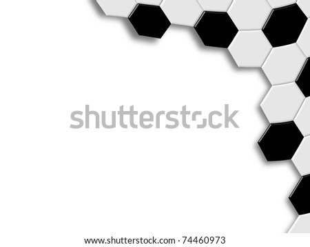Background of soccer ball pattern design - stock photo