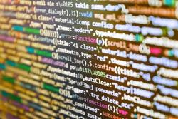 Background of software developer script. Programming code. Admin