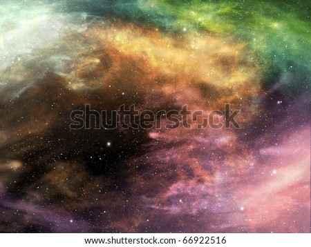 Background of space and nebula