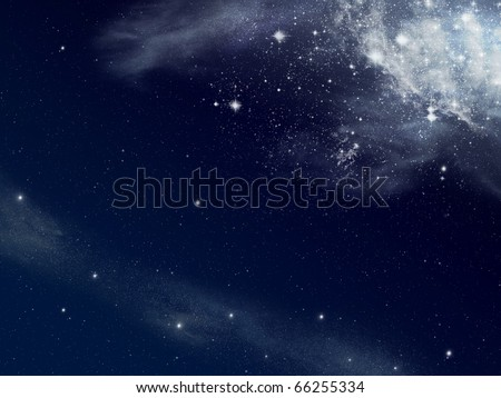 Background of star and space