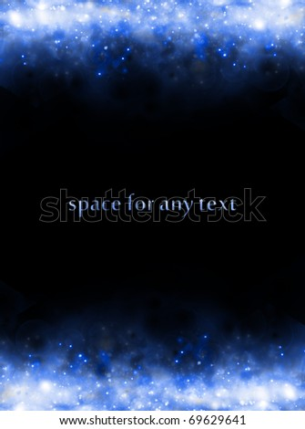 Background of starfields above and below with space for text at center