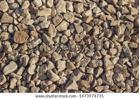 Background of stone rubble, texture