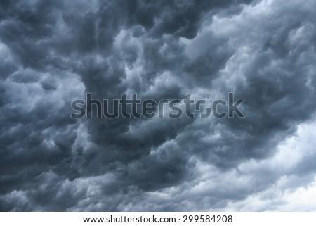 Background of storm rain clouds before a thunder-storm. Monsoon season Kerala India