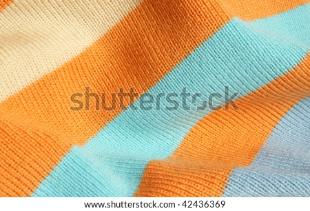 Background of striped knitted fabric