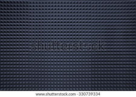 Background of studio sound dampening acoustical foam
