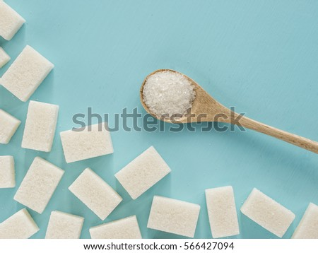 background of sugar cubes and...