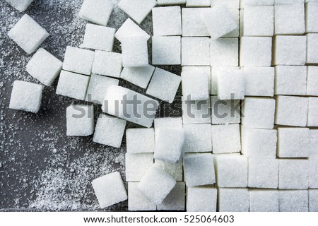 background of sugar cubes.Cube sugar background