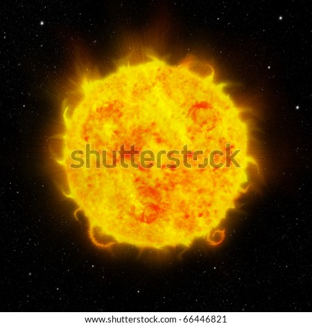 Background of sun and space