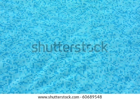 background of swimming pool tiles or wall with underwater effect