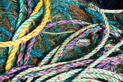 Background of tangle of ropes.