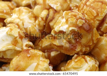 background of tasty and crunchy caramel popcorn background