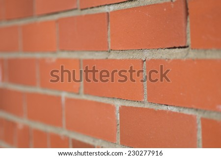 background of the brick wall created by red bricks