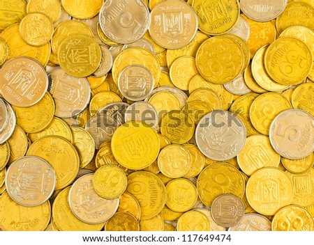 Background of the coins of Ukraine