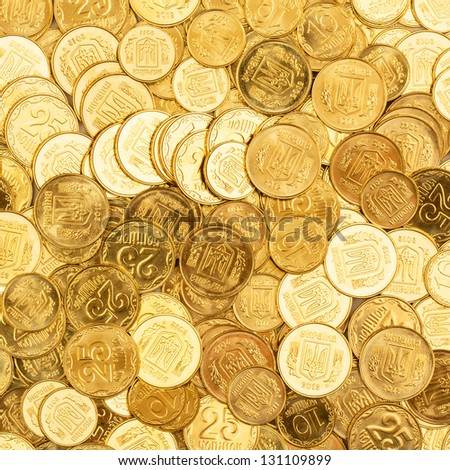 Background of the coins of Ukraine #131109899