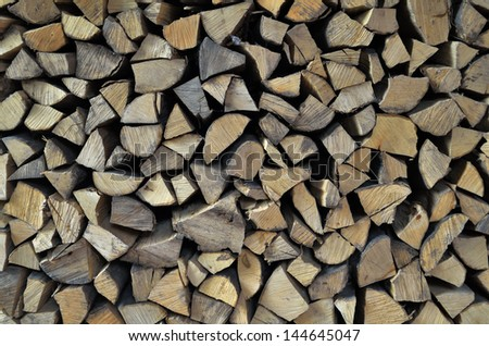 background of the ends of firewood