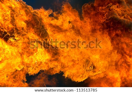 Background of the fire - stock photo
