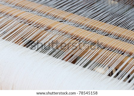 background of the loom at the fair