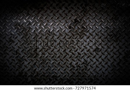 Background of the old scratched metal surface with scratches in black tone. #727971574