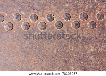 background of the rivets on rusty metals