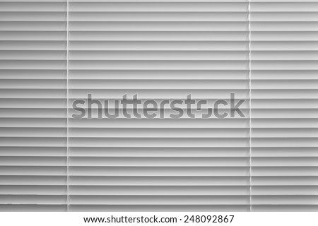 Background of the slats of venetian blind in black and white #248092867