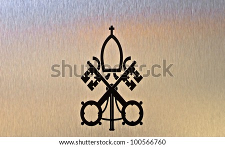 Background of the symbol of Vatican City