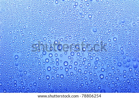 Background of the water dew