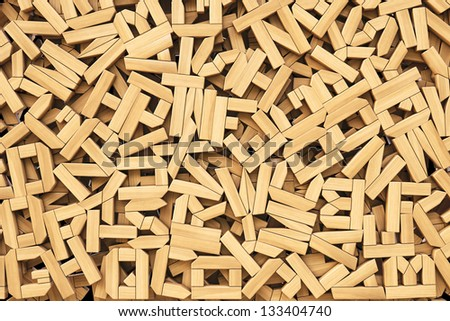 background of the wooden letters.