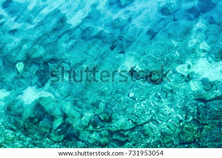 background of transparent sea water and bottom #731953054