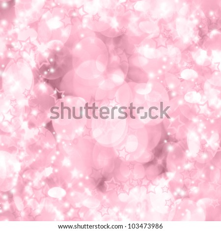 Background of unfocused pink lights with sparkles