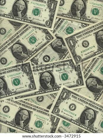 Background of US one dollar bills
