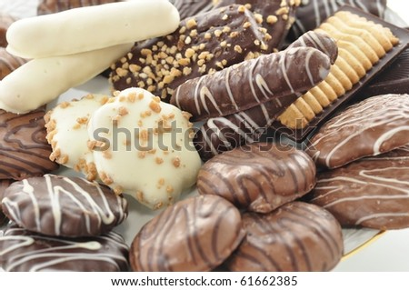 background of various delicious cookies