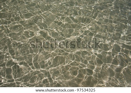 background of water dapples on shallow sand